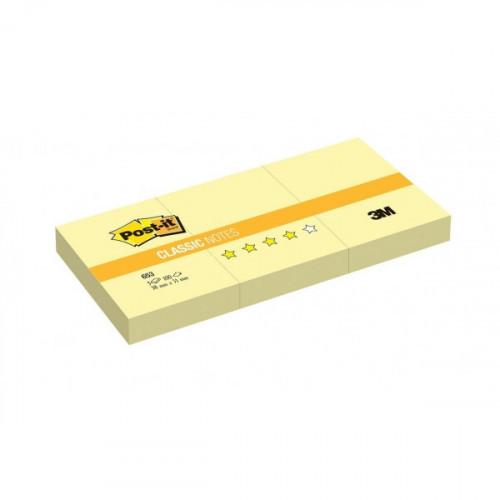 Блок-кубик 3M 38х51 желтый 3 штуки в упаковке