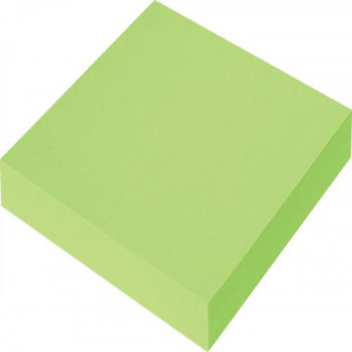 Самоклеящийся блок OFFICE LINE, 76х76, неоново зеленый, 100 листов