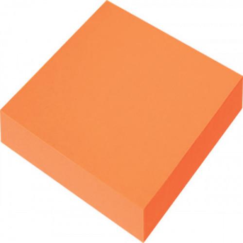Самоклеящийся блок OFFICE LINE, 76х76, неоново оранжевый, 100 листов
