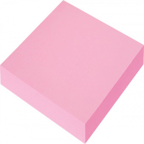 Самоклеящийся блок OFFICE LINE, 76х76, неоново розовый, 100 листов