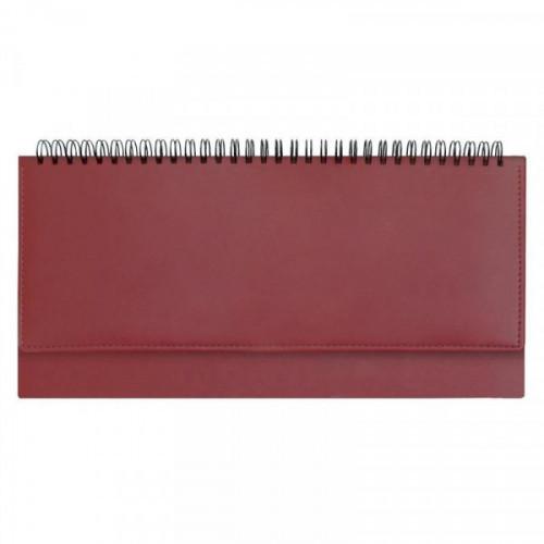 Планинг недатированный Attache Velvet искусственная кожа 64 листа бордовый (290х150 мм)