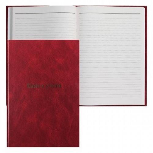 Книга учета А4, 96 листов, бумвинил, линейка, твердый переплет