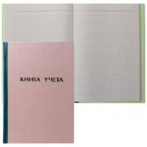 Книга учета А4, 96 листов, картон, клетка, книжный переплет КУ-112