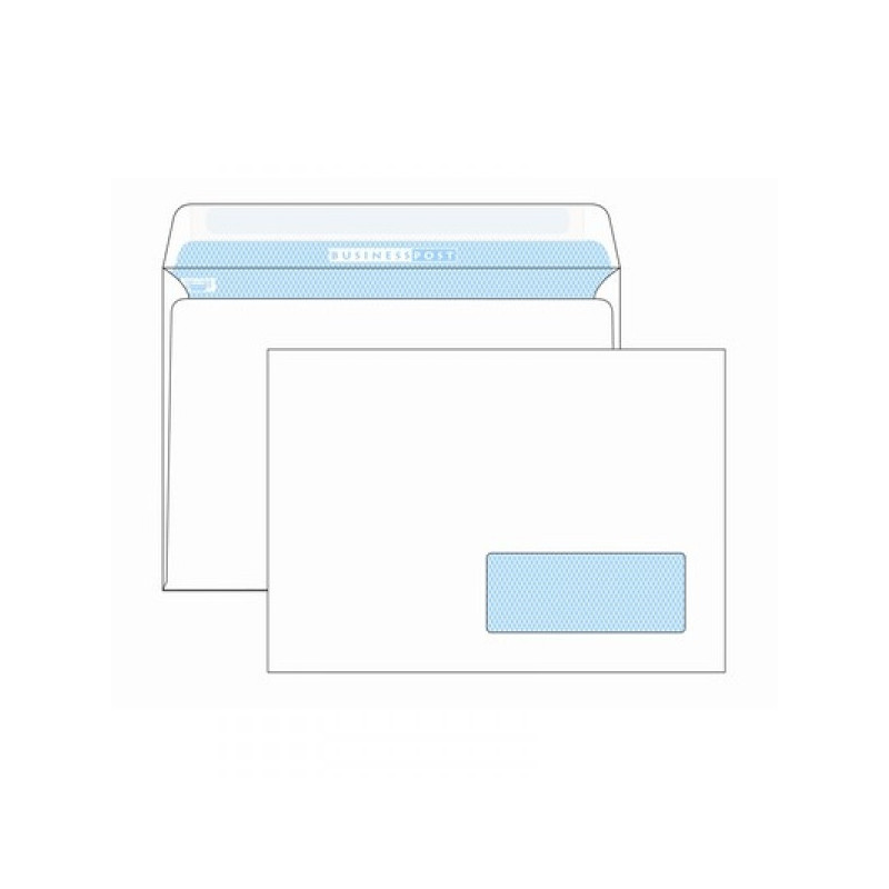 Конверт белый C5 стрип правое окно Vittoria/BusinessPost 162х229 мм 1000 штук в упаковке