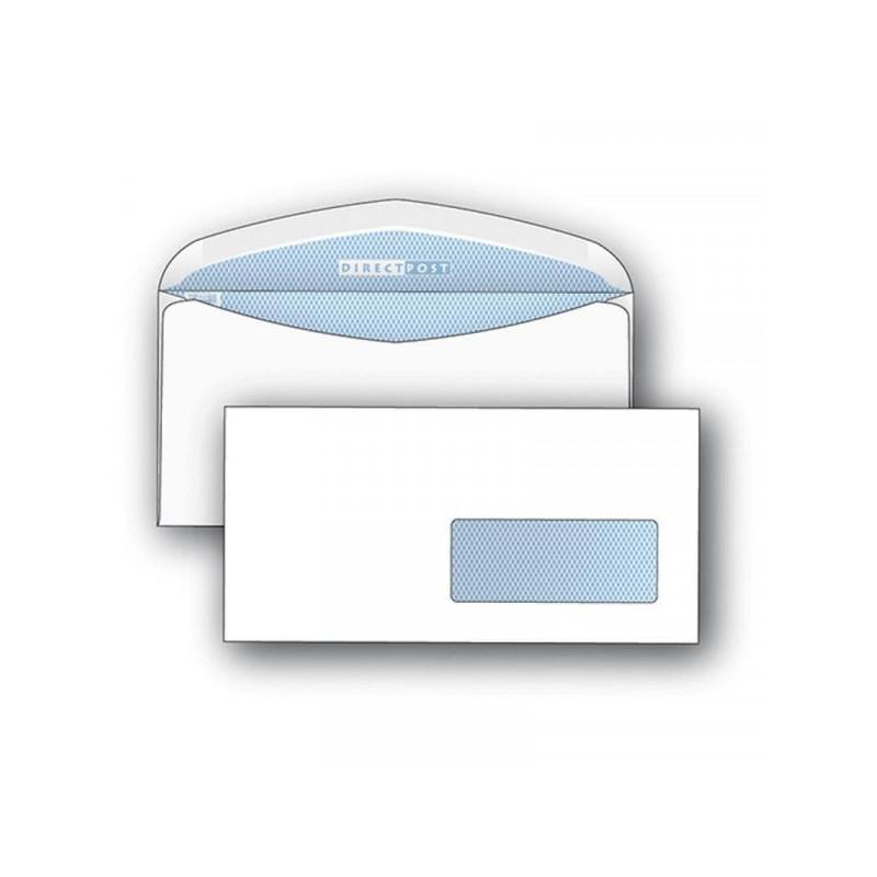 Конверт почтовый DirectPost C65 (114x229 мм) белый с клеем автомат правое окно 1000 штук в упаковке