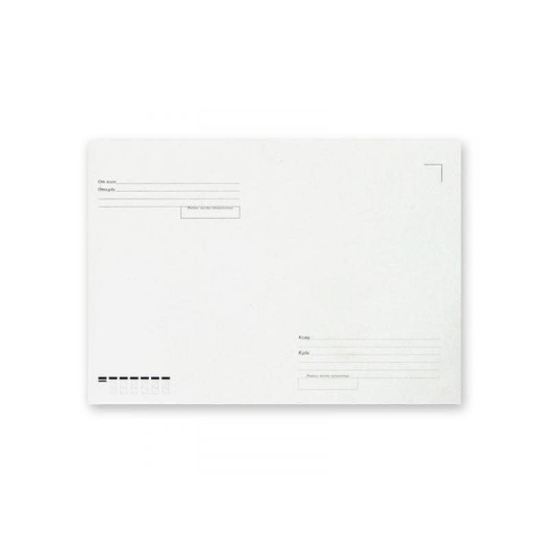 Конверт белый С4 без клея Куда-Кому 229х324 мм треугольный клапан 115 г 500 штук в упаковке