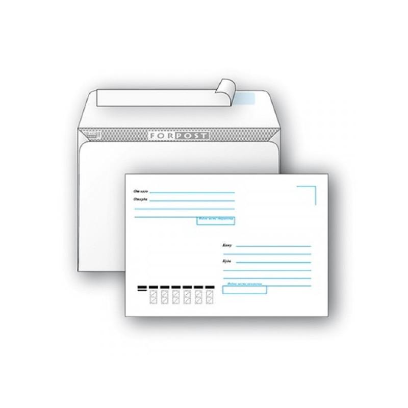Конверт Куда-Кому С6 стрип ForPost 114х162 мм 1000 штук в упаковке