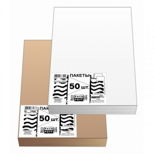 Пакет белый E4 стрип Businesspack 300х400 мм 100 г 50 штук в упаковке