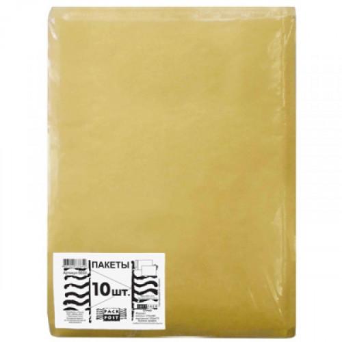Пакет крафт 370x480 стрип с п/э воздушной подкладкой 100 грамм  Softpack 10 штук в упаковке