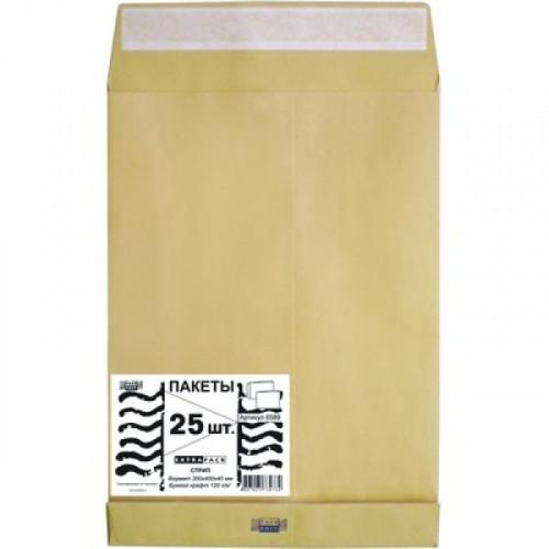 Пакет крафт E4 стрип Extrapack 300х400х40 мм 120 г 25 штук в упаковке