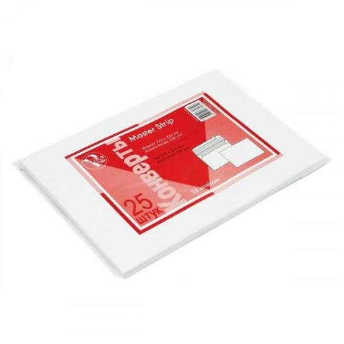 Конверт белый C4 стрип Master/BusinessPost 229х324 мм 25 штук в упаковке
