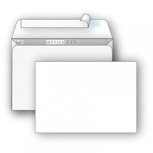 Конверт белый E65 стрип OfficePost 110х220 мм 1000 штук в упаковке