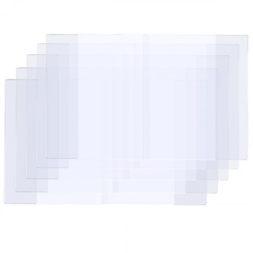 Обложки для тетрадей и дневников с прозрачными клапанами 100 мкм 213х346 мм 5 штук в упаковке