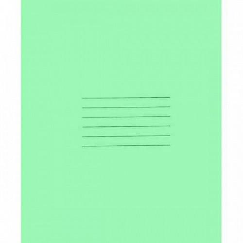 Тетрадь 24л., линейка, на скобе, зеленая