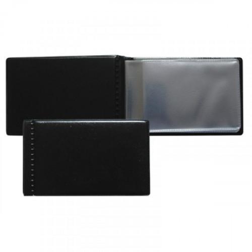 Визитница карманная на 14 визиток Attache из ПВХ черного цвета