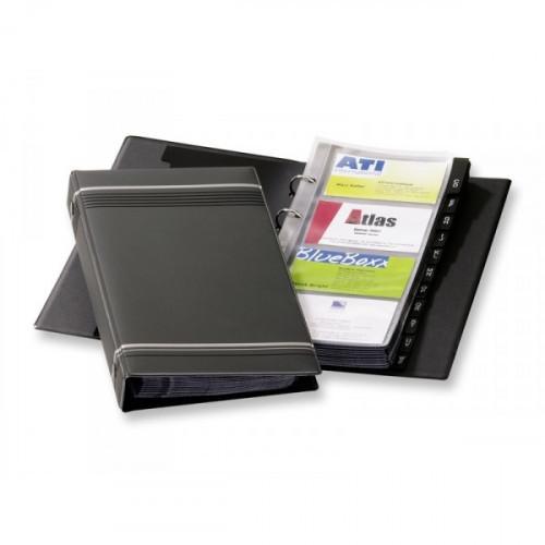 Визитница настольная Durable Visifix искусственная кожа на 200 визиток антрацитовая