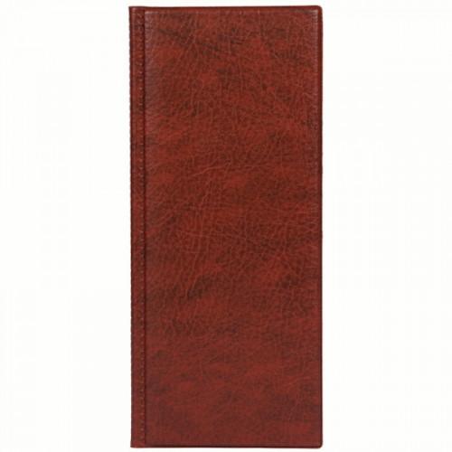 Визитница настольная ДПС на 96 визиток, 4 ряда, ПВХ, коричневый