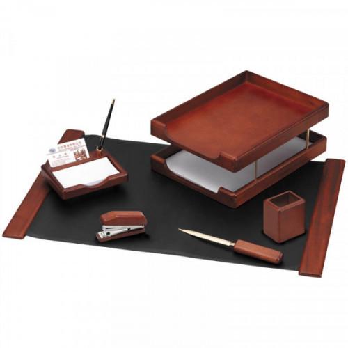 Набор настольный Delucci 6 предметов темно-коричневый орех