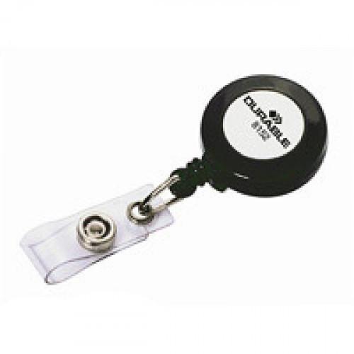 Держатель для бейджика Durable с рулеткой (10 штук)