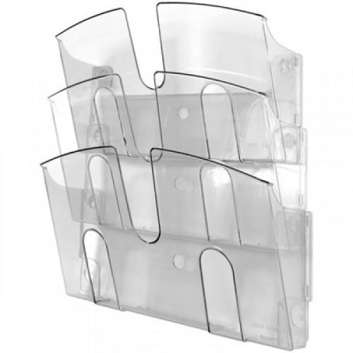 Лоток Uniplast настенный А4 3 отделения прозрачный