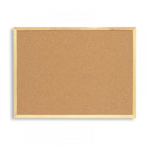 Доска пробковая Attache 100х150 см деревянная рама