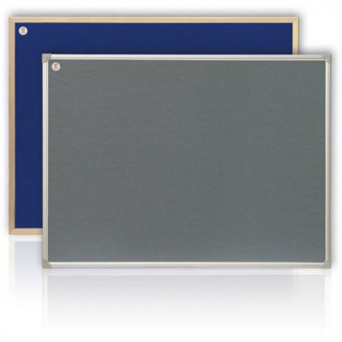 Доска текстильная серая 100х150 см рамка MDF