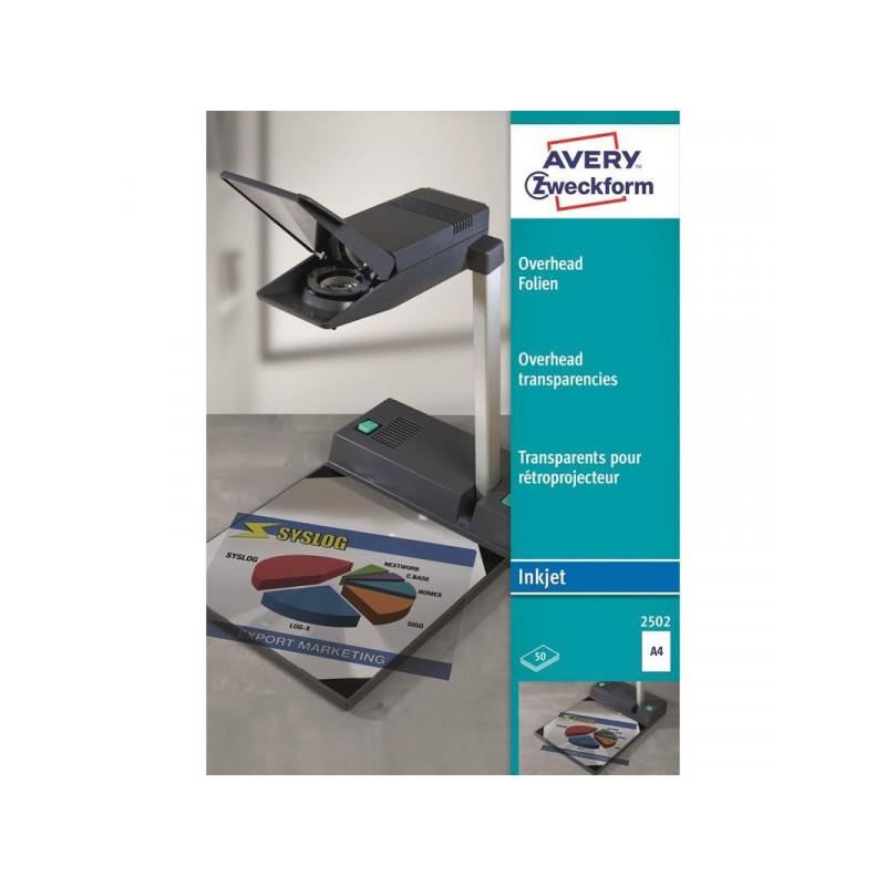 Пленка для проекторов Avery Zweckform Z2502 прозрачная А4 (50 листов)