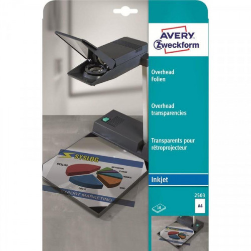 Пленка для проекторов Avery Zweckform Z2503 прозрачная А4 10 листов