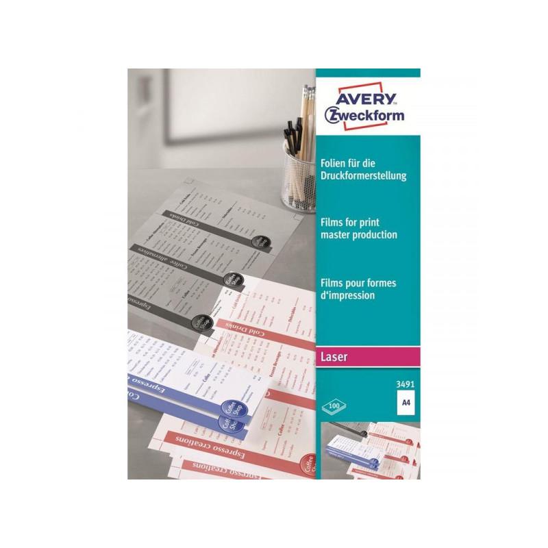 Пленка Avery Zweckform Z3491 А4, 100 листов
