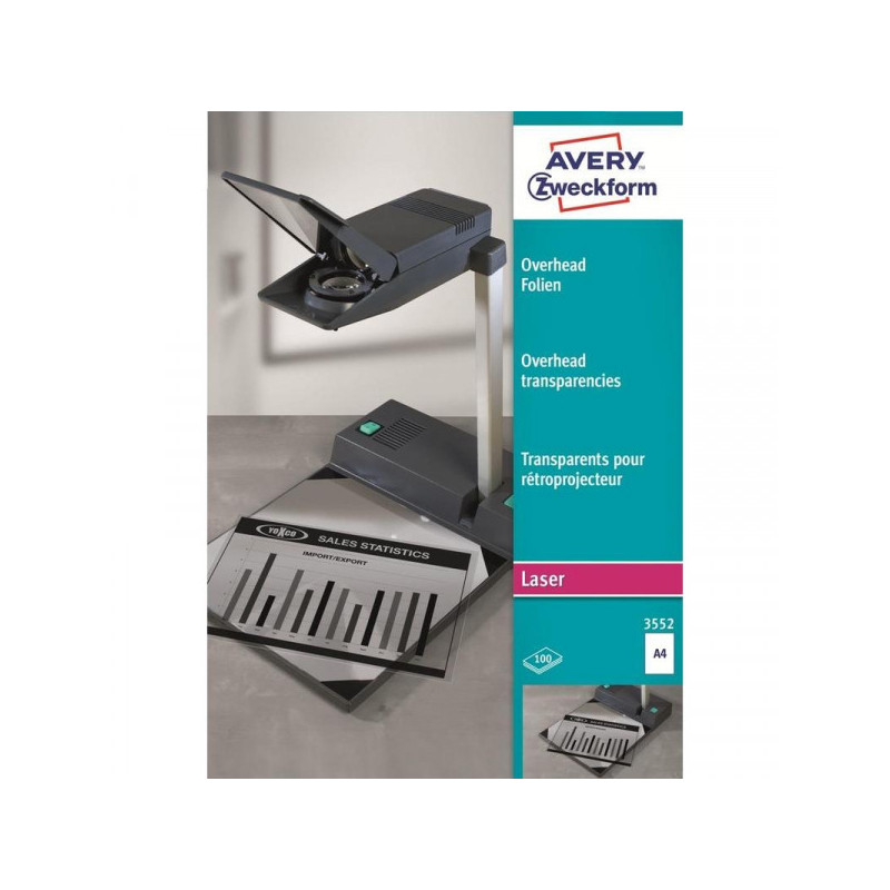 Пленка для проекторов Avery Zweckform Z3552 прозрачная А4 100 листов