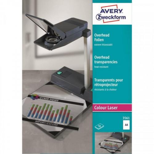 Пленка для проекторов Avery Zweckform Z3561 прозрачная А4 50 листов