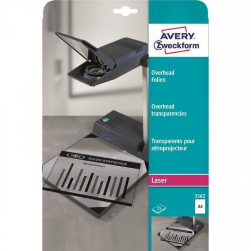Пленка для проекторов Avery Zweckform Z3562 прозрачная А4 25 листов