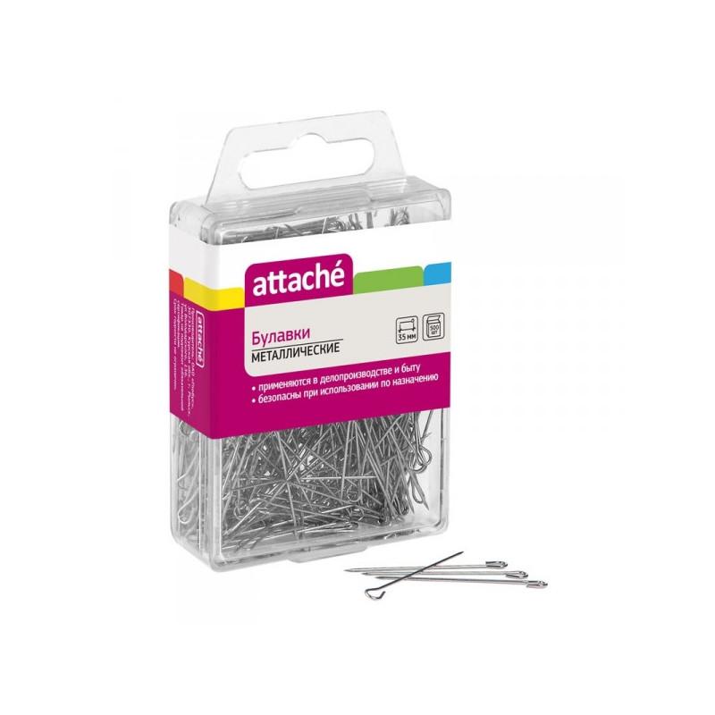 Булавки Attache металлические 35 мм 500 штук в упаковке