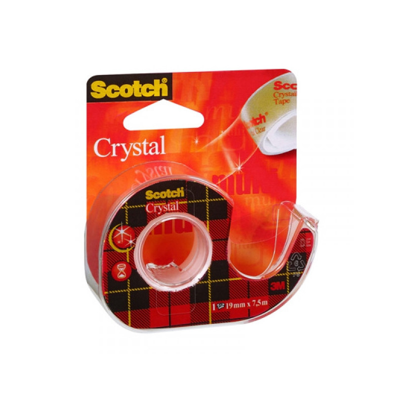 Клейкая лента 3M Scotch Cristal 19 мм х 7,5 м прозрачная