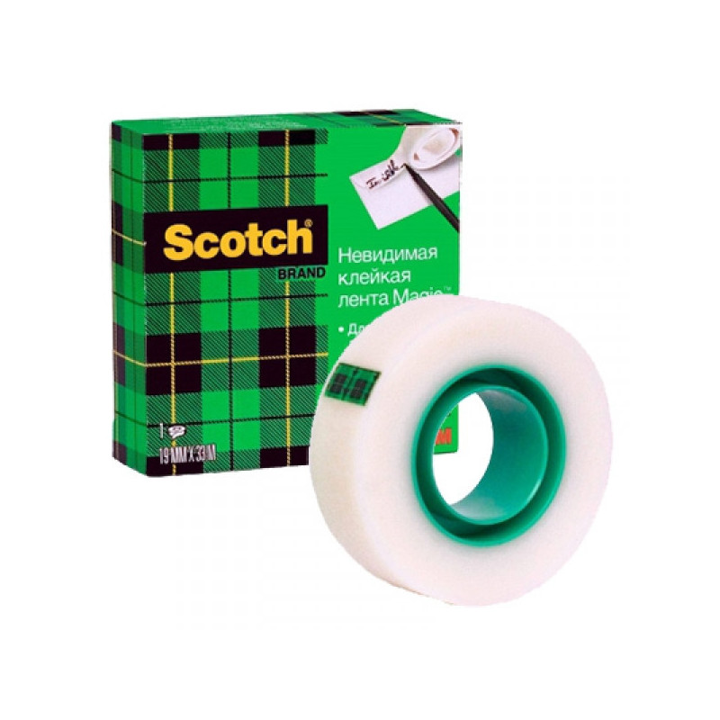 Клейкая лента 3M Scotch Magic 810 Невидимая 19 мм х 33 м матовая 1 штука