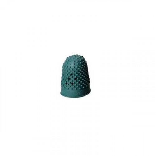 Напальчник для бумаги резиновый зеленый диаметр 18 мм высота 30 мм