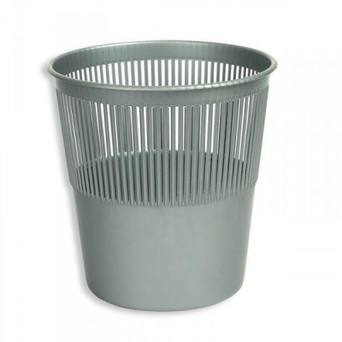 Корзина для мусора Attache 10 литров пластиковая серая