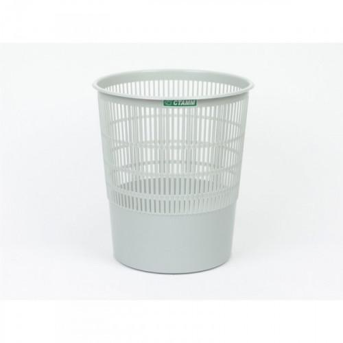 Корзина для мусора СТАММ 18 литров пластиковая серая