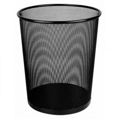 Корзина для бумаг Deli на 16 литров с металлической сеткой черная