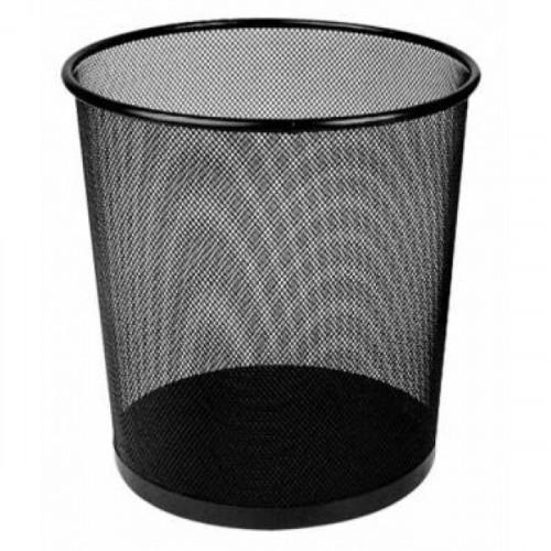 Корзина для бумаг Deli 12 литров с металлической сеткой черная