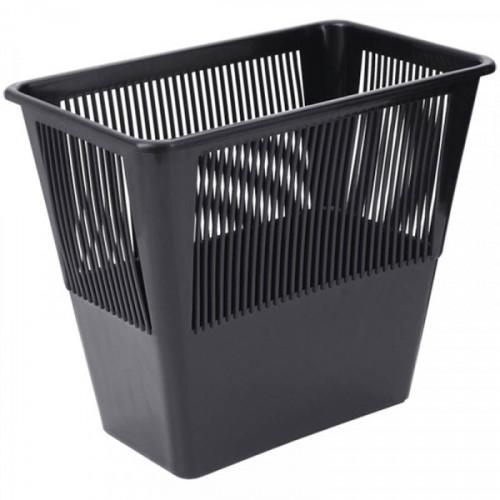 Корзина для бумаг 12 литров прямоугольная сетчатая черная КР-31 СТАММ