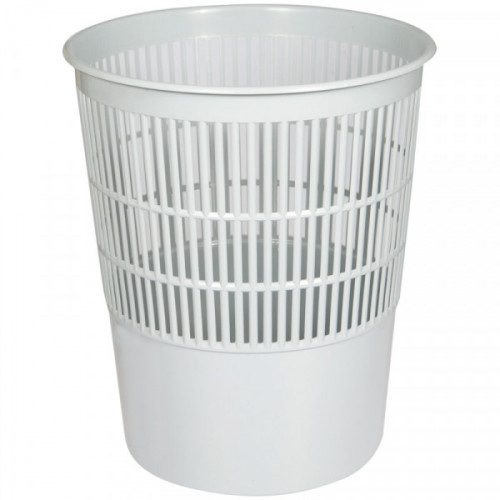 Корзина для бумаг OfficeClean 14 литров сетчатая серая