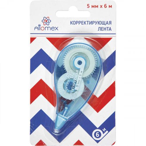 Корректирующая лента, 5мм x 6м, корпус синий, фронтальный аппликатор
