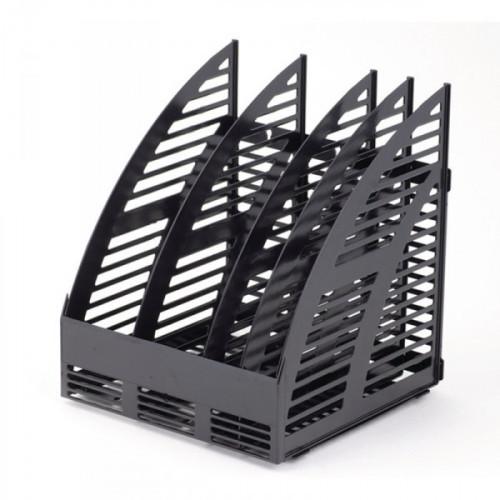 Вертикальный накопитель на 4 секции разборный черный