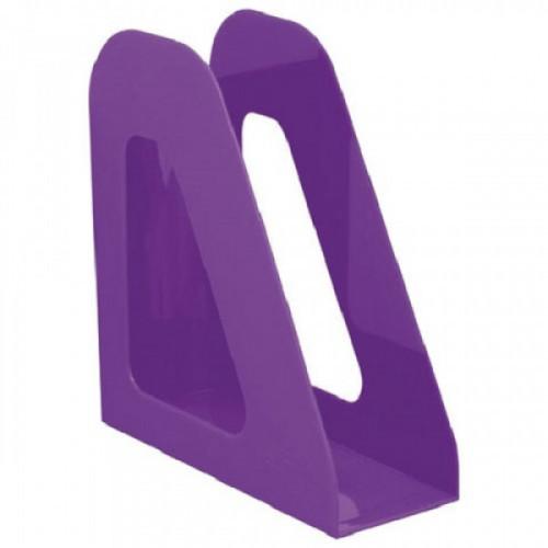 """Лоток вертикальный для бумаг СТАММ """"Фаворит"""", ширина 90 мм, фиолетовый, ЛТ723"""