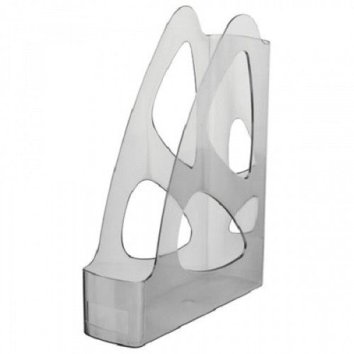 """Лоток вертикальный для бумаг СТАММ """"Парус"""", ширина 80 мм, тонированный серый, ЛТ135"""
