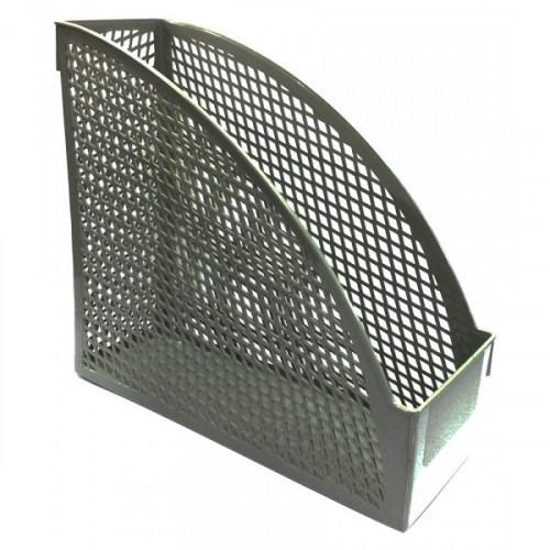 Лоток вертикальный, 1 отделение, ширина 110мм, литой, серый, передний бортик, OFFICE LINE
