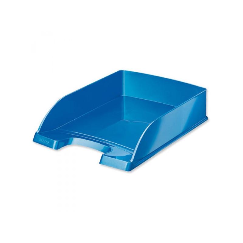 Лоток для бумаг Leitz WOW голубой глянец