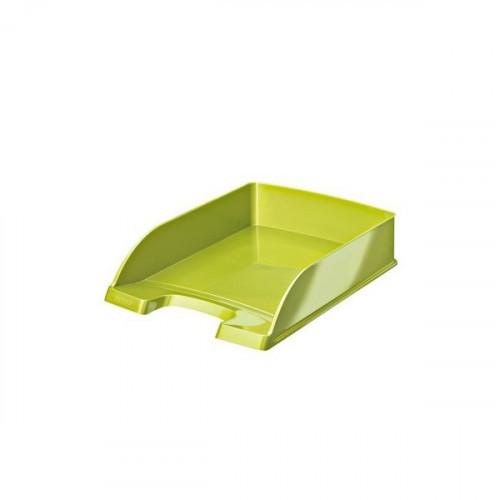 Лоток для бумаг Leitz Wow зеленый глянец