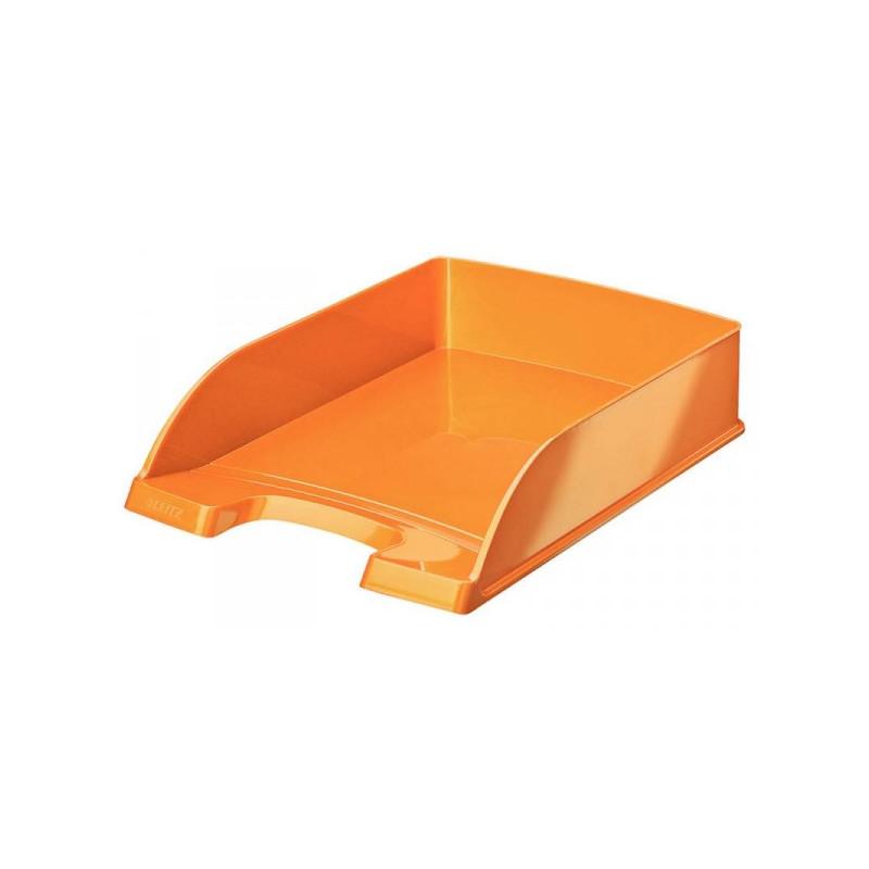 Лоток для бумаг Leitz WOW оранжевый глянец